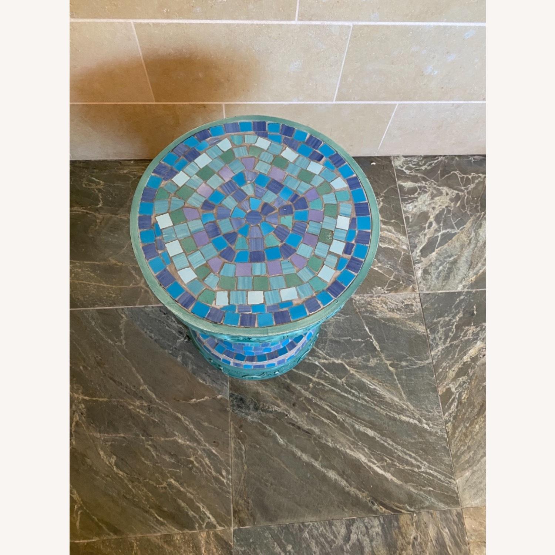 Vintage Mosaic Tile Garden Stool - image-9