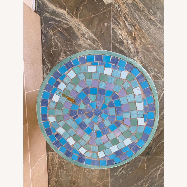 Vintage Mosaic Tile Garden Stool - image-2