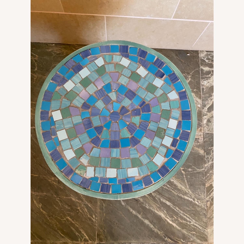 Vintage Mosaic Tile Garden Stool - image-8