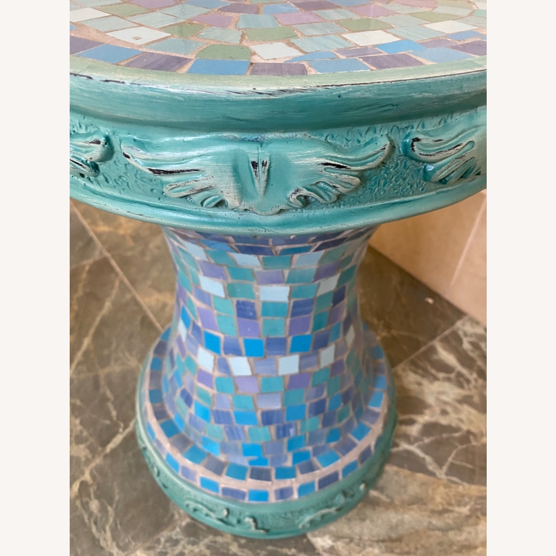 Vintage Mosaic Tile Garden Stool - image-3