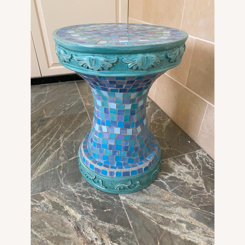 Vintage Mosaic Tile Garden Stool - image-1