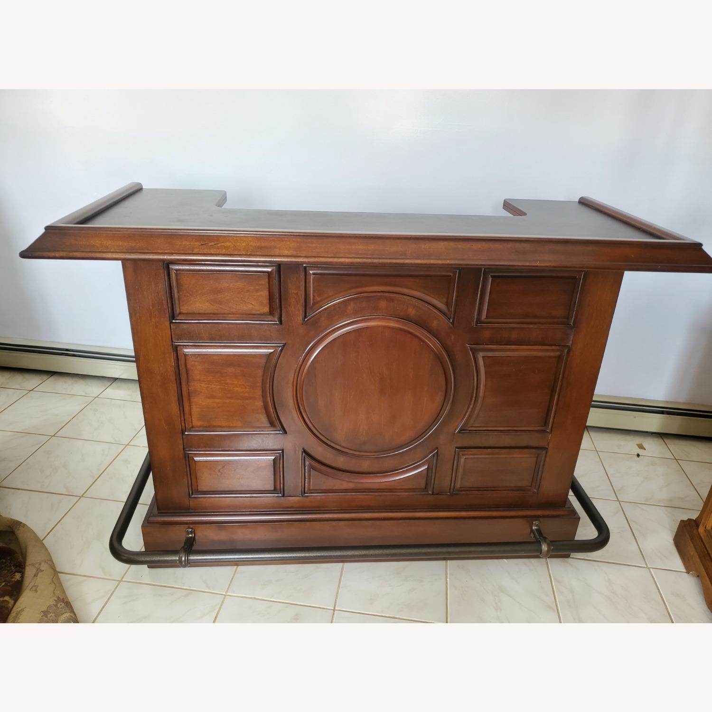 Dark Brown Wooden Bar - image-5