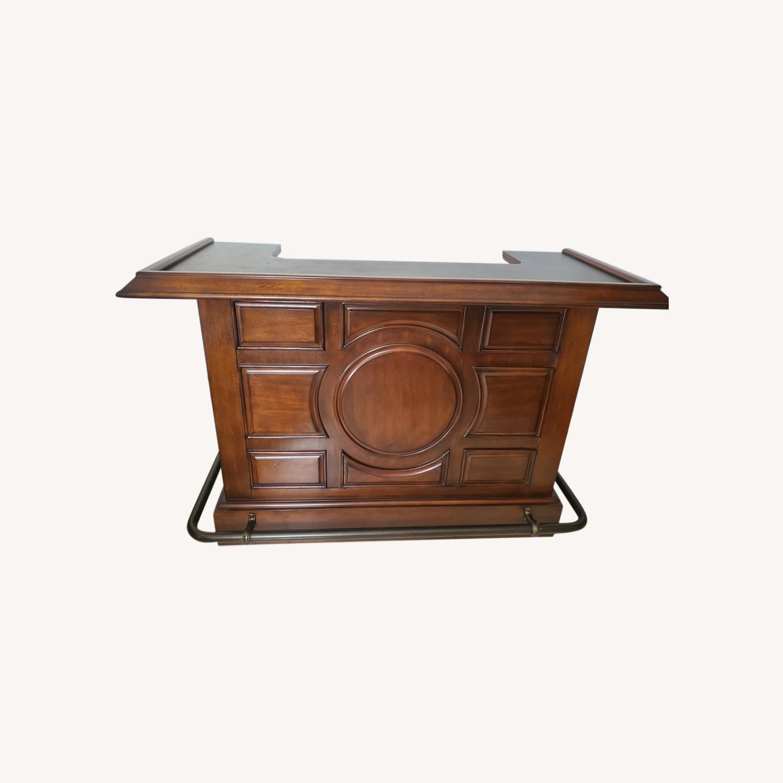 Dark Brown Wooden Bar - image-0