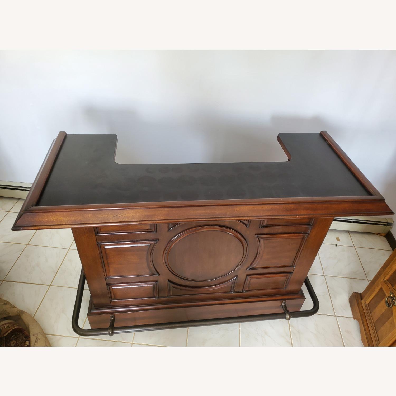 Dark Brown Wooden Bar - image-4