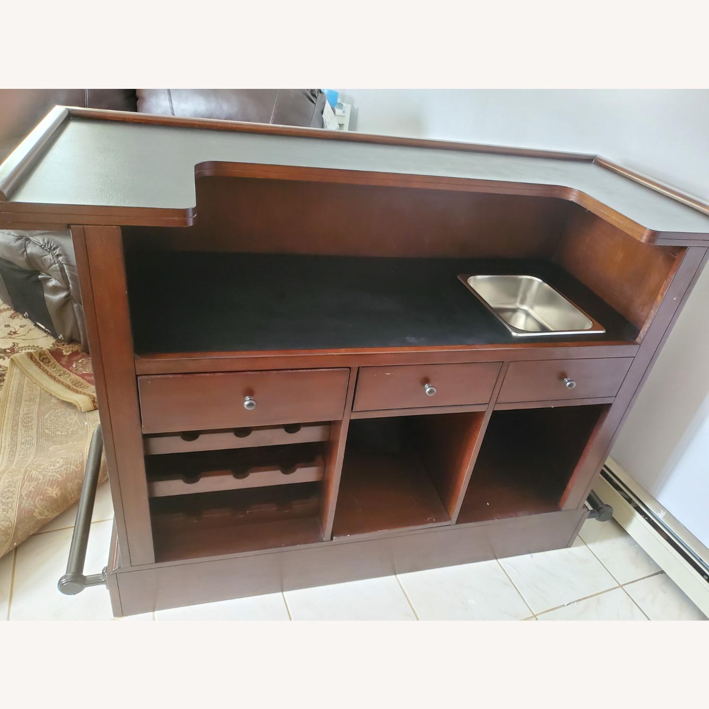 Dark Brown Wooden Bar - image-6