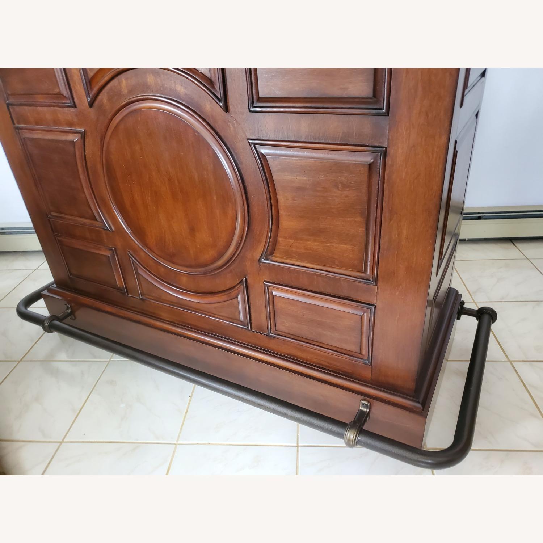 Dark Brown Wooden Bar - image-1