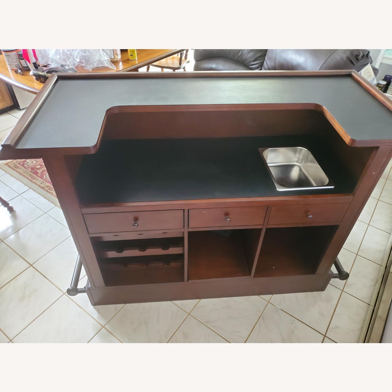 Dark Brown Wooden Bar - image-3