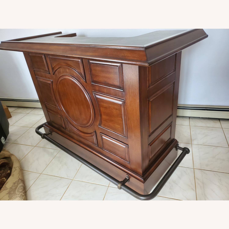 Dark Brown Wooden Bar - image-2