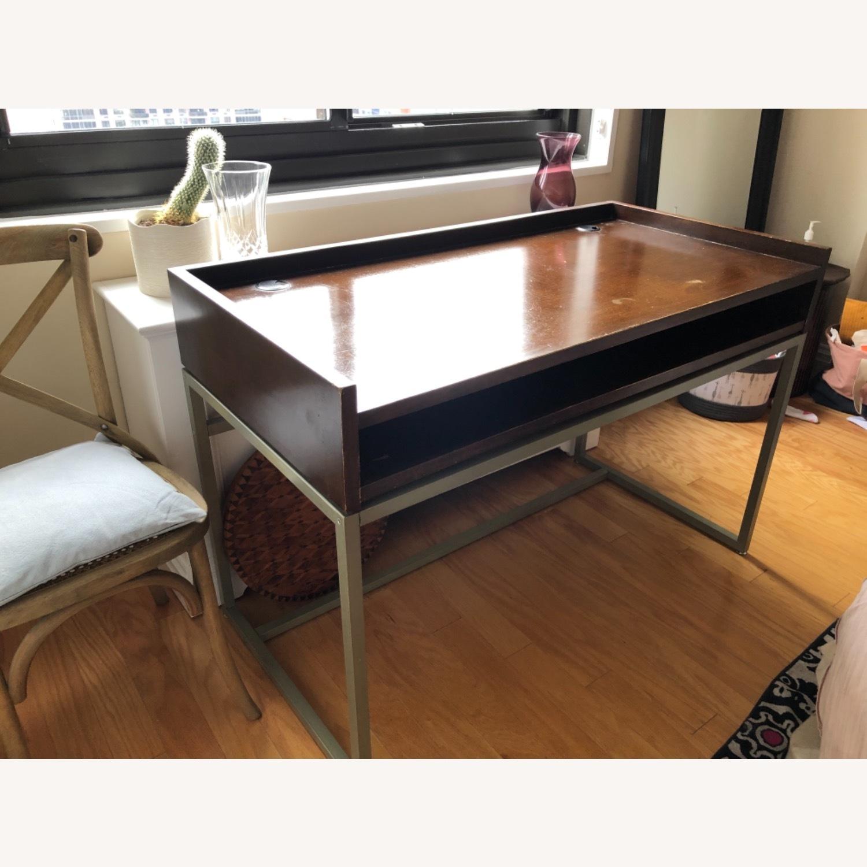 Boston Interiors Mid-century Modern Wood / Iron Desk - image-3