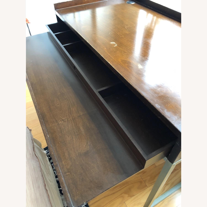 Boston Interiors Mid-century Modern Wood / Iron Desk - image-1