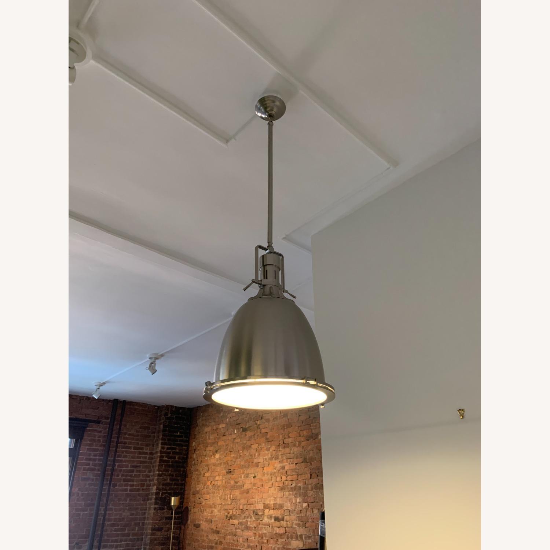 Industrial Chrome Ceiling Pendant - image-1
