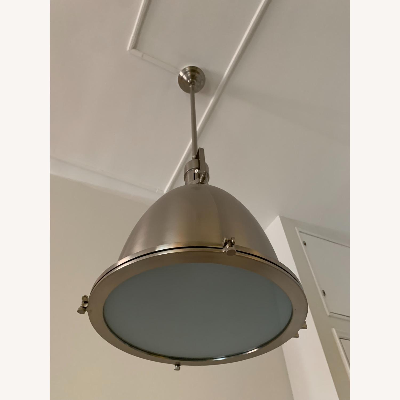 Industrial Chrome Ceiling Pendant - image-2