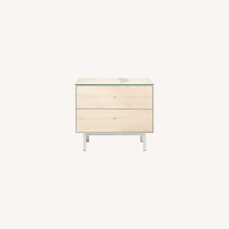 Room & Board 2 Drawer Nightstand - image-0