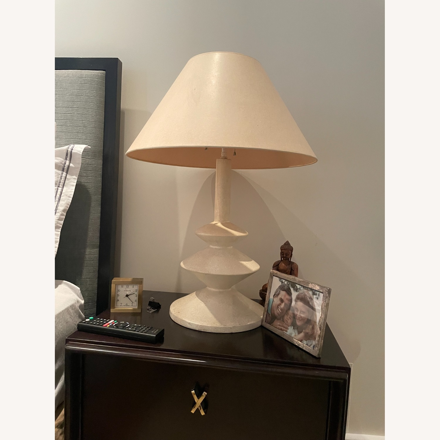 Pair of Concrete Table Lamps - image-1