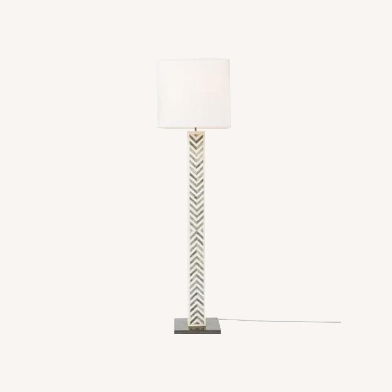 West Elm Parsons Tile Chevron Floor Lamp - image-0