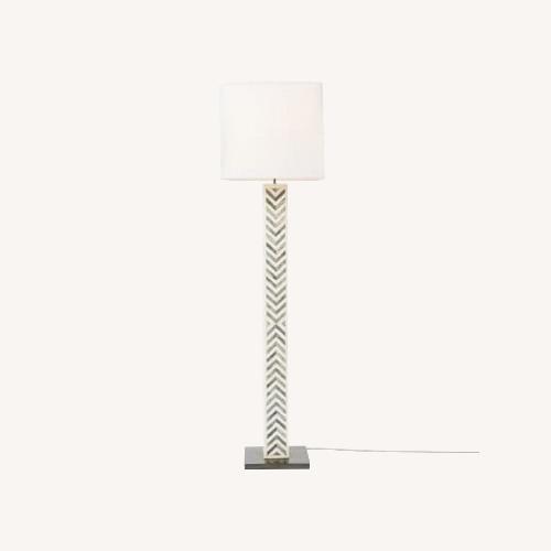 Used West Elm Parsons Tile Chevron Floor Lamp for sale on AptDeco