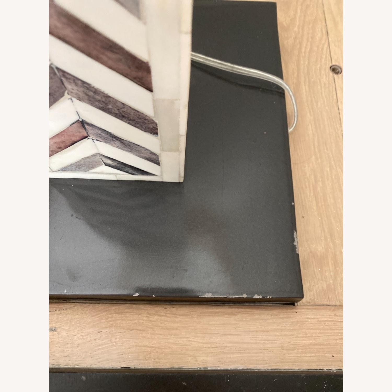 West Elm Parsons Tile Chevron Floor Lamp - image-3