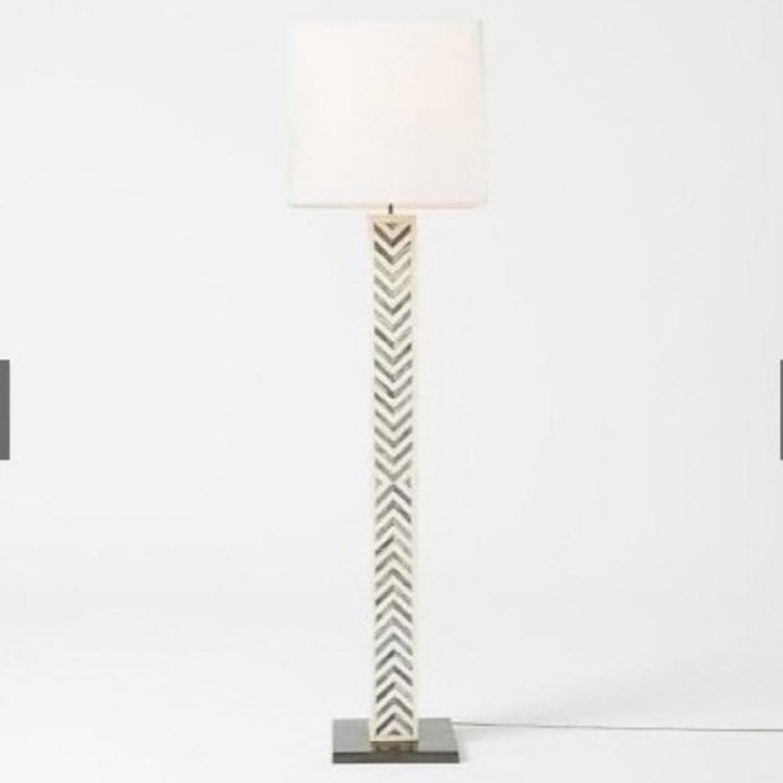 West Elm Parsons Tile Chevron Floor Lamp - image-1