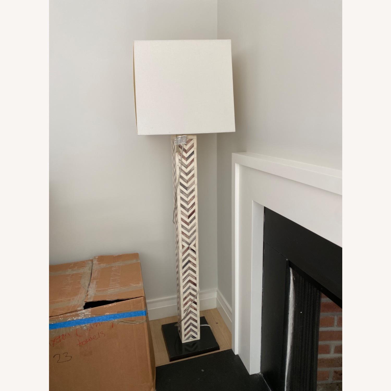 West Elm Parsons Tile Chevron Floor Lamp - image-5