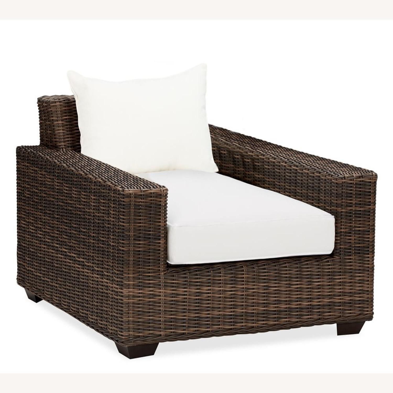 Pottery Barn Torrey Swivel Lounge Chair - image-3