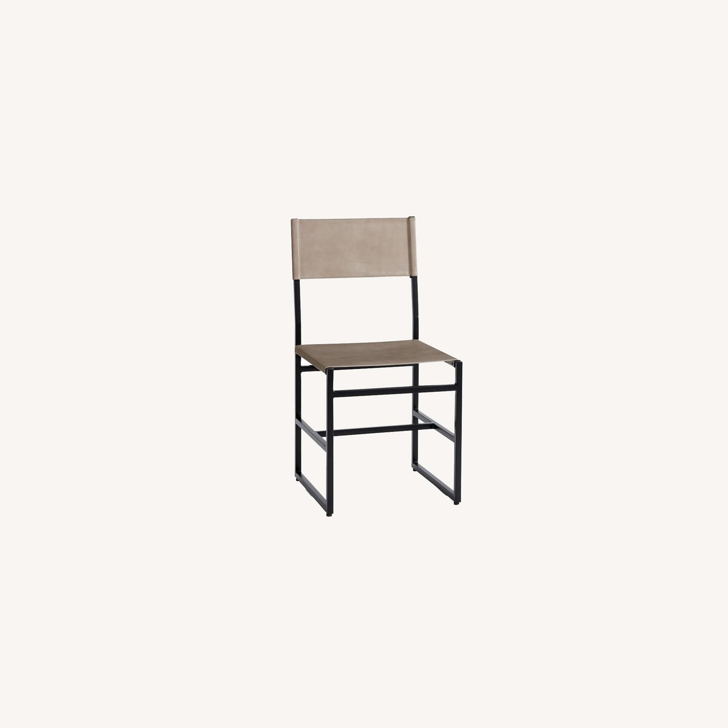 Pottery Barn Hardy Leather Dining Chair - image-0