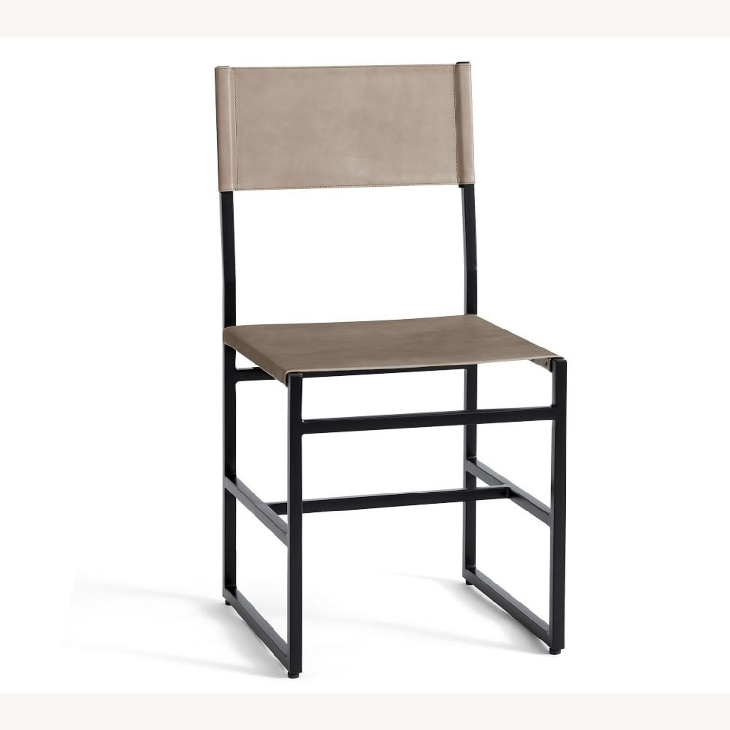 Pottery Barn Hardy Leather Dining Chair - image-1
