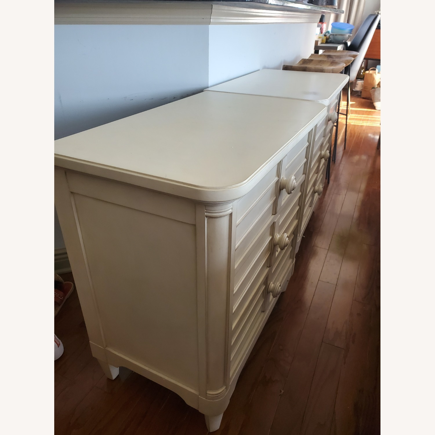 Stanley Sommerset Ivory 3 Drawer Nightstands - image-1