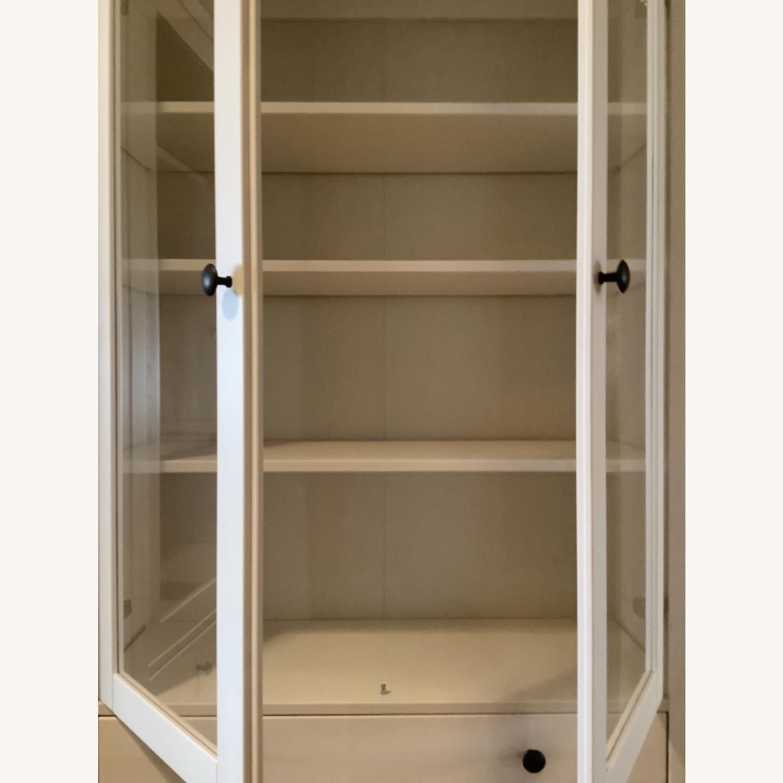 IKEA Hemnes Glass Door Cabinets with Drawers - image-5