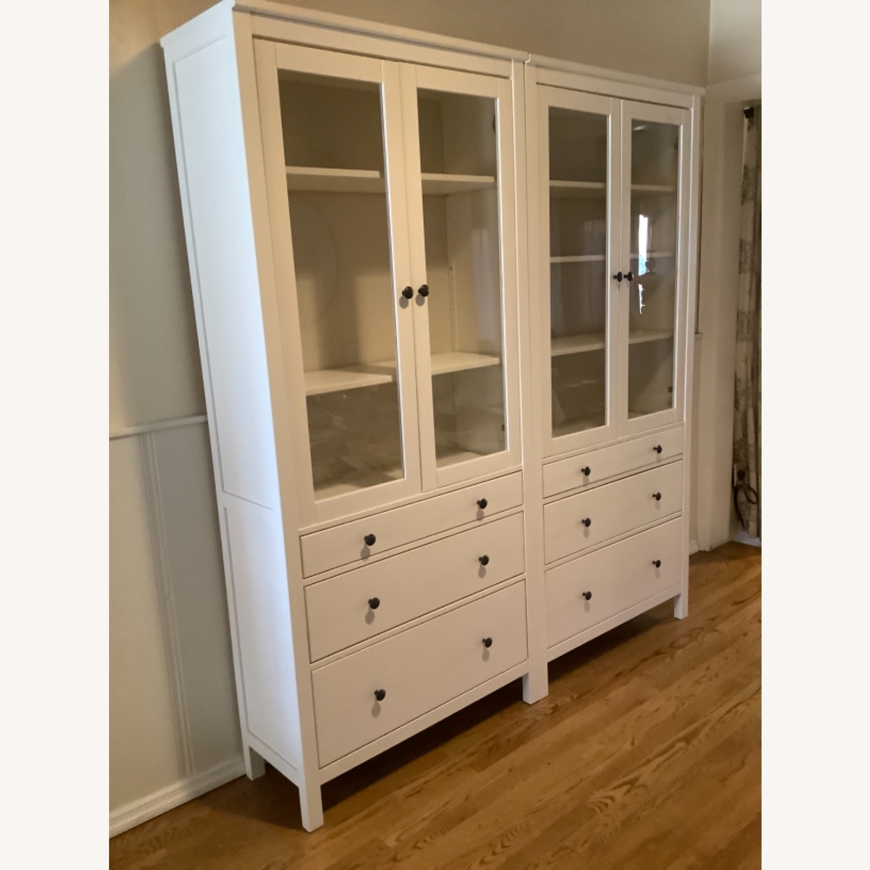 IKEA Hemnes Glass Door Cabinets with Drawers - image-4