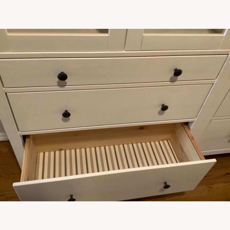 IKEA Hemnes Glass Door Cabinets with Drawers - image-6