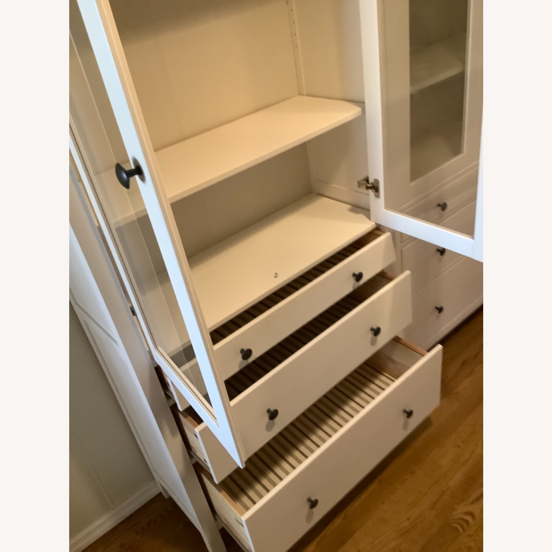 IKEA Hemnes Glass Door Cabinets with Drawers - image-3