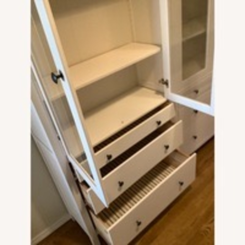 IKEA Hemnes Glass Door Cabinets with Drawers - image-8