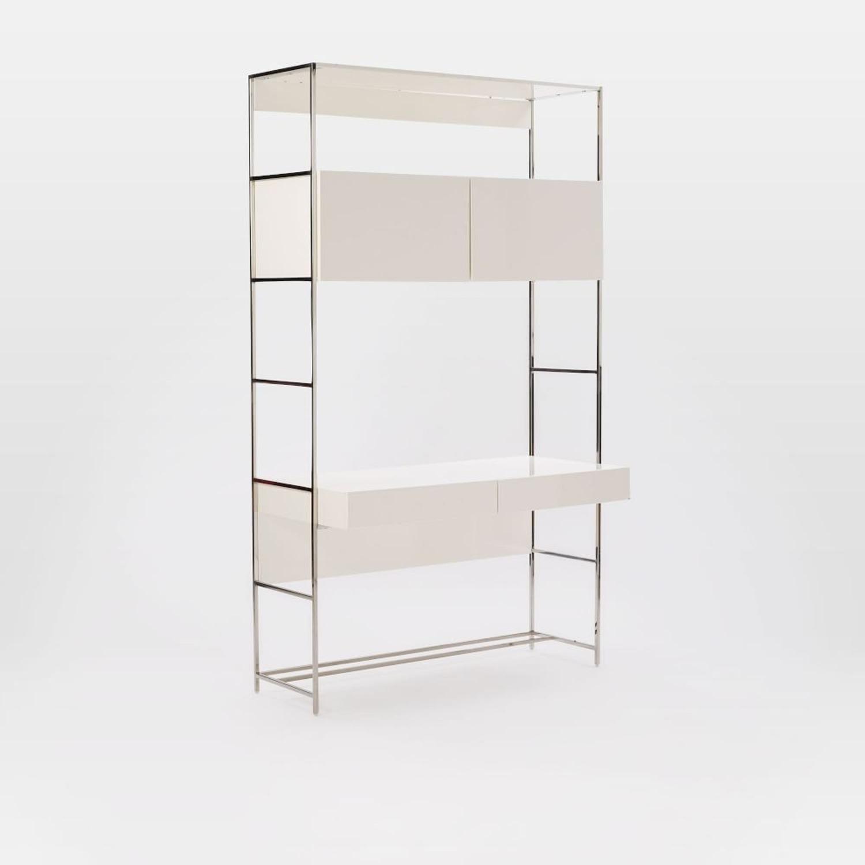 """West Elm Lacquer Storage 49"""" Desk - image-1"""