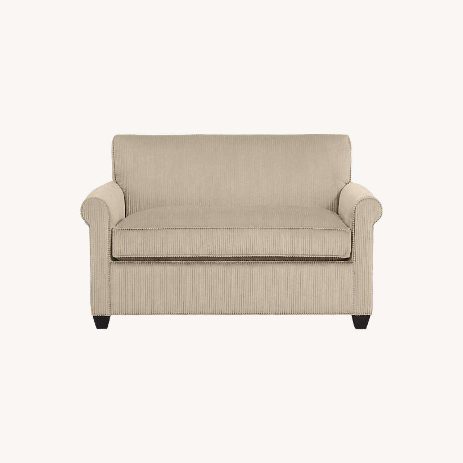 Crate & Barrel Oxford Loveseat w/ Twin Bed Pull Out - image-0