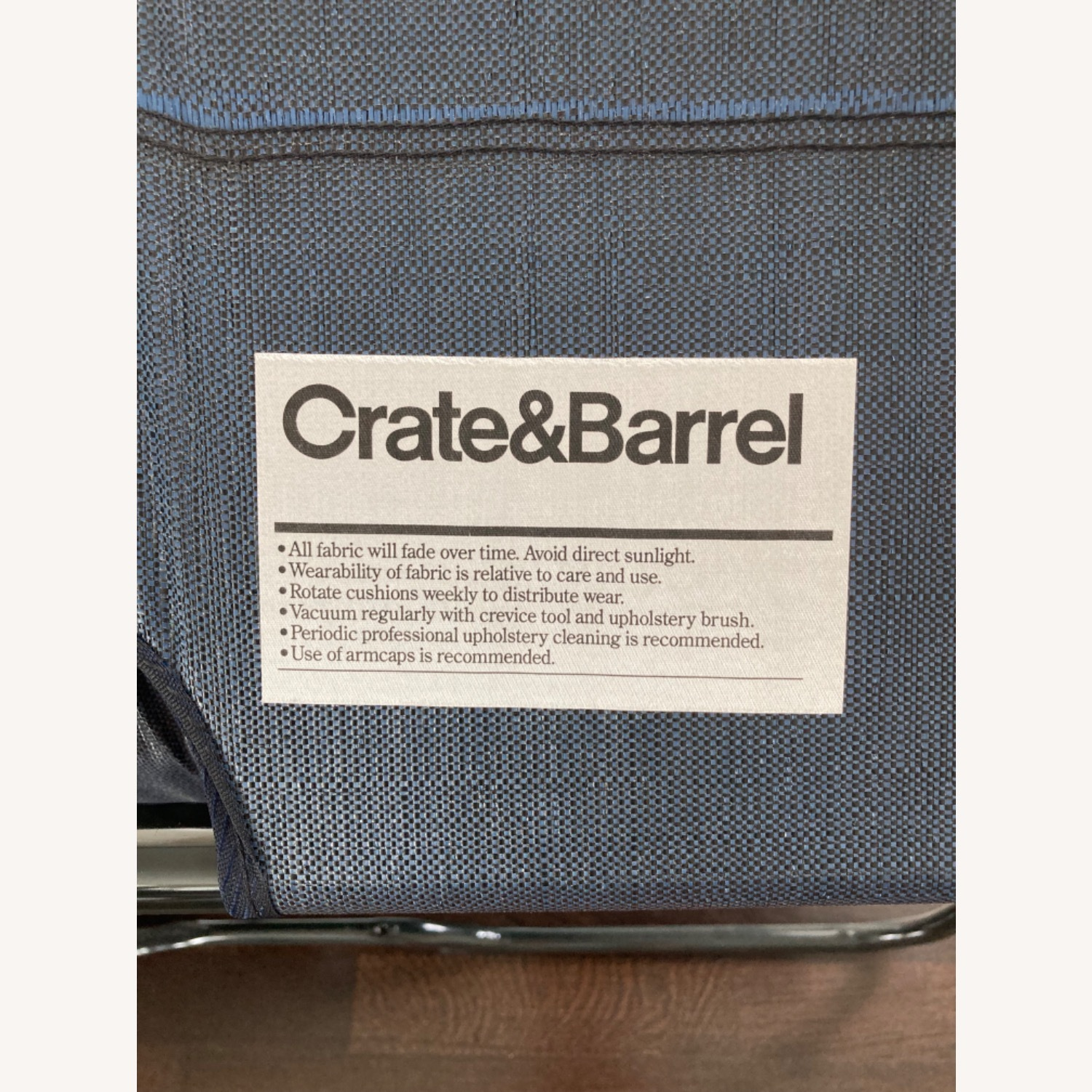 Crate & Barrel Oxford Loveseat w/ Twin Bed Pull Out - image-3
