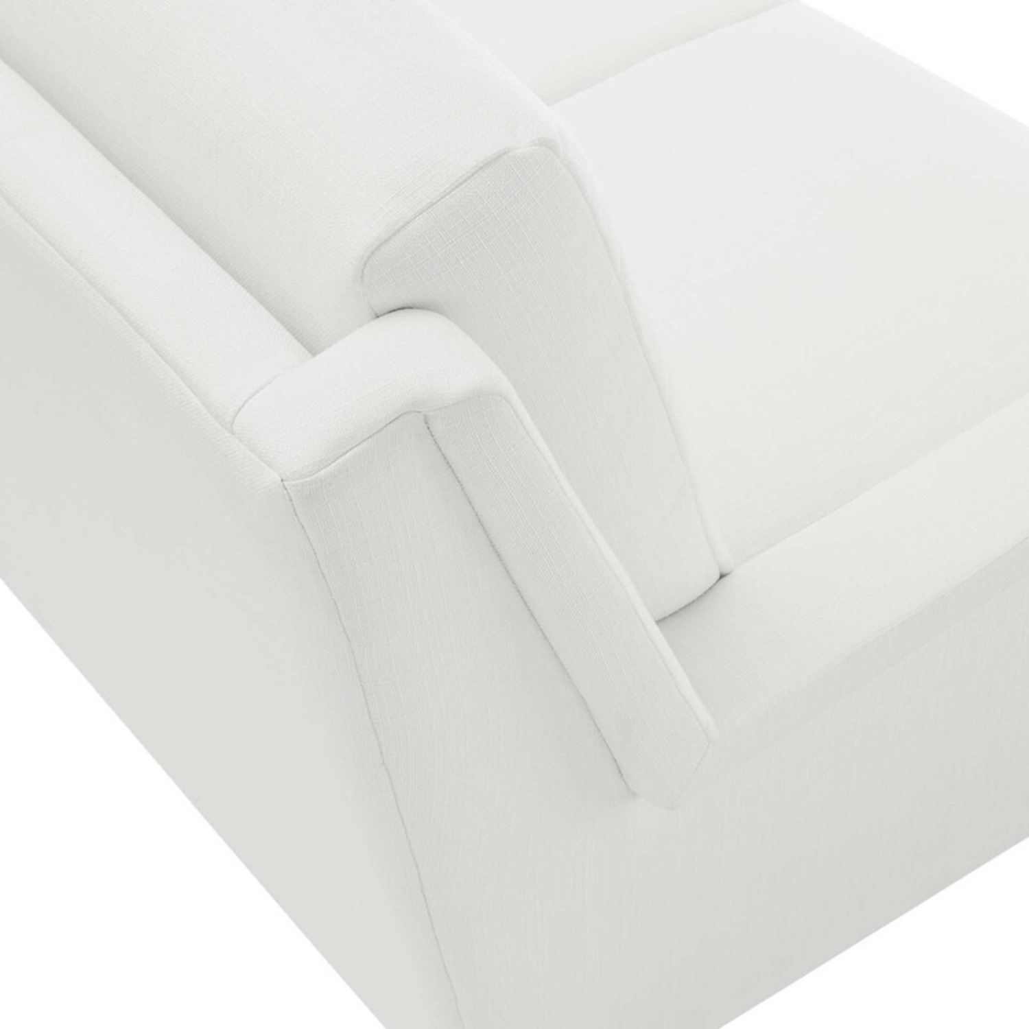 Retro Style Sofa In White Polyester Fabric - image-4