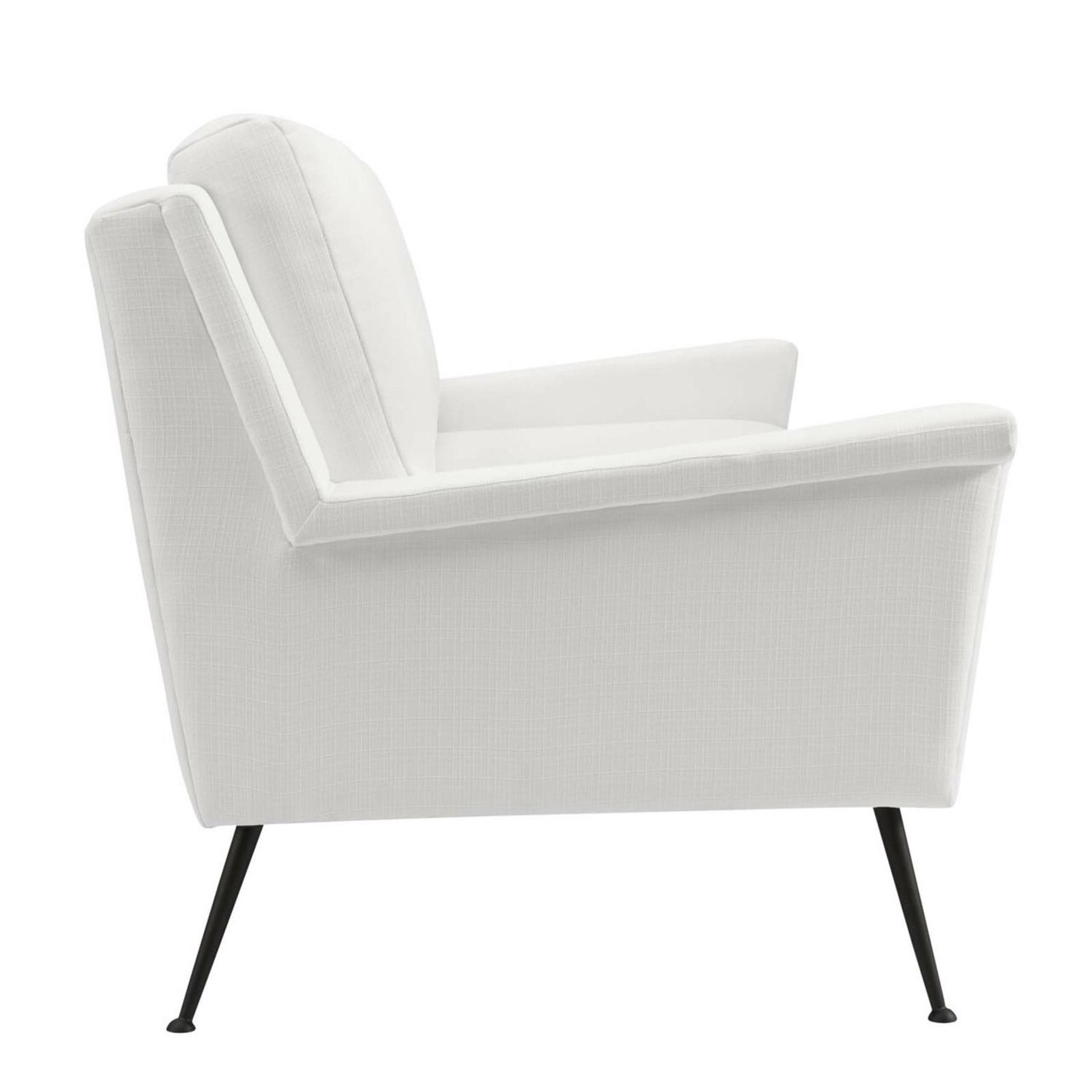 Retro Style Sofa In White Polyester Fabric - image-3