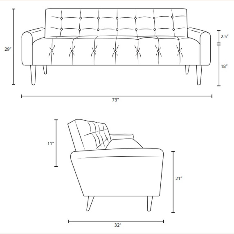 Sofa In Gray Velvet Performance Upholstery - image-4
