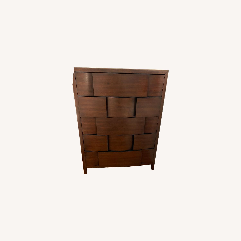 Raymour & Flanigan Mahogany Tall Dresser - image-0