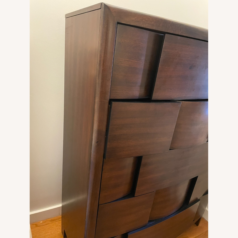 Raymour & Flanigan Mahogany Tall Dresser - image-2