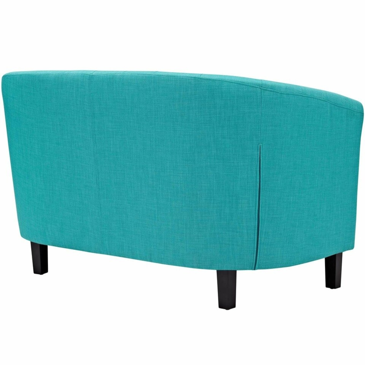 Modern Loveseat In Pure Water Fabric Upholstery - image-2