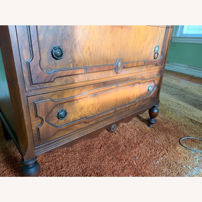 Antique Dresser Art Deco / Jacobean Highboy - image-5
