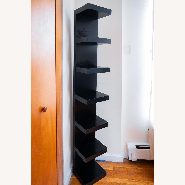 Black IKEA Lack Shelves - image-1