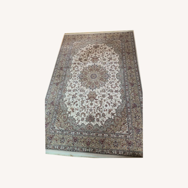 Area Rug Persian Wool and Silk Keristan - image-4