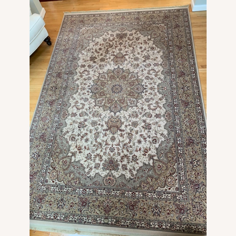 Area Rug Persian Wool and Silk Keristan - image-0