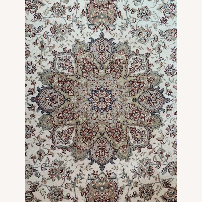 Area Rug Persian Wool and Silk Keristan - image-1