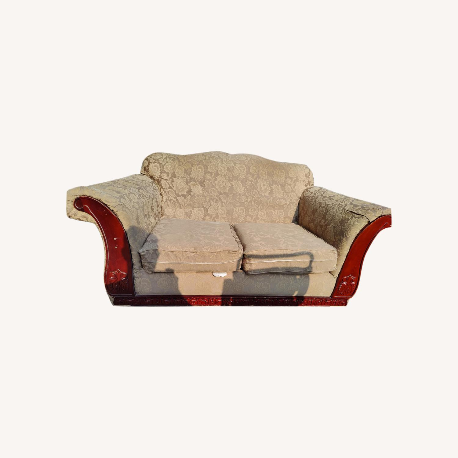 Loveseat with two Stretch Slipcovers - image-0