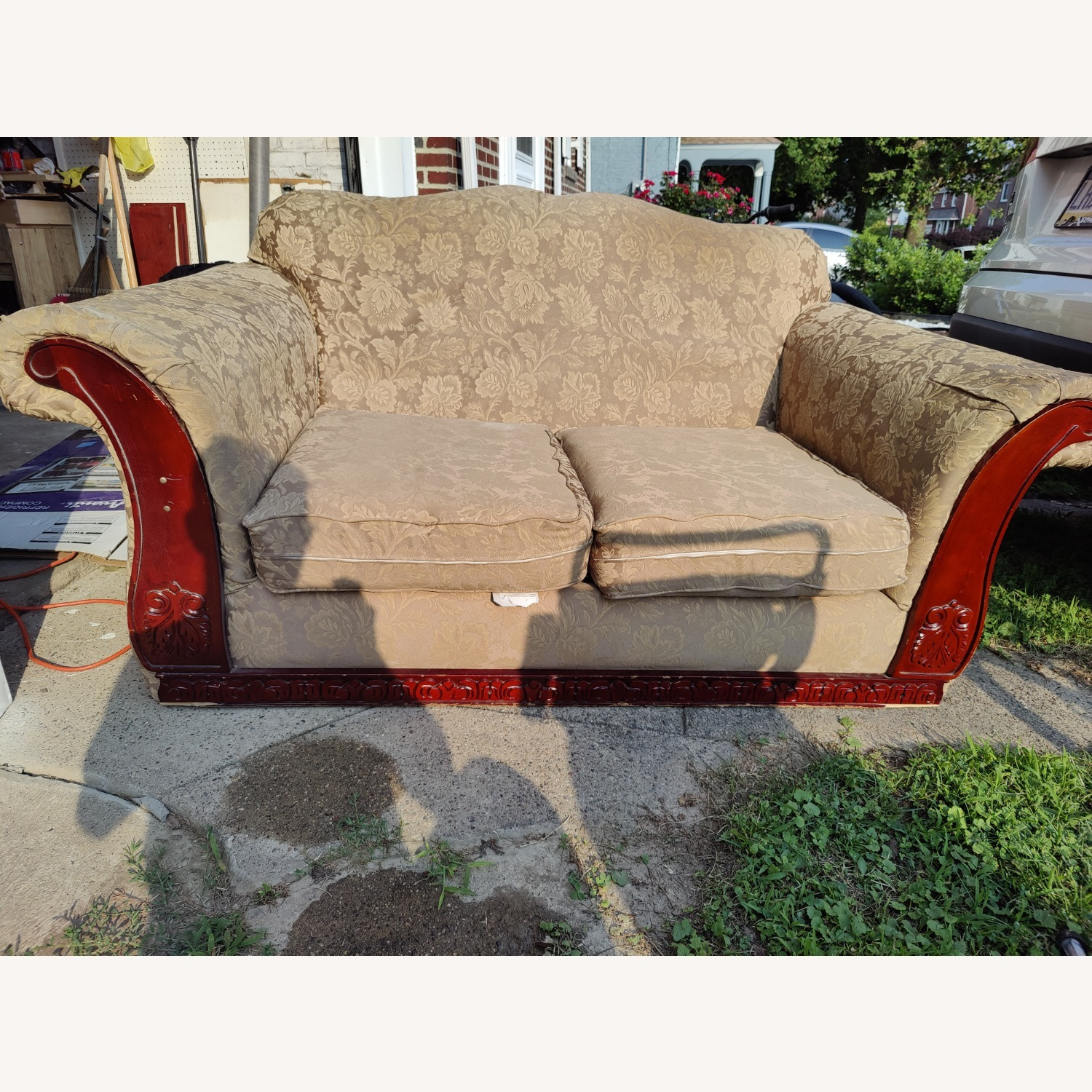 Loveseat with two Stretch Slipcovers - image-1
