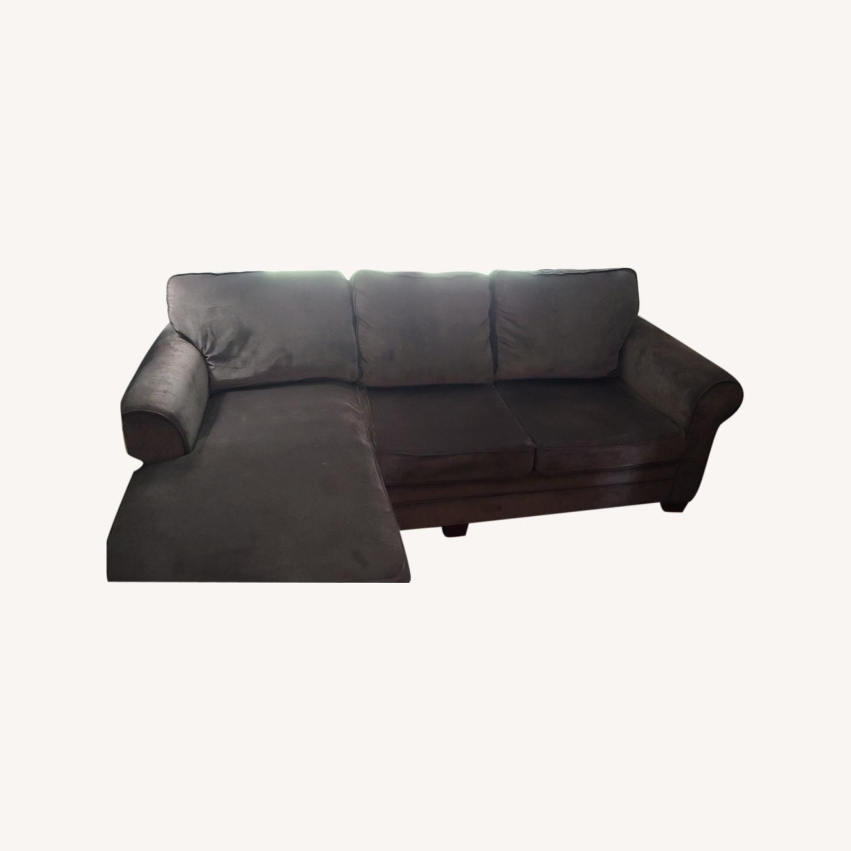 Bob's Discount Furniture Lindy Bobs DK Brn Sofa - image-0