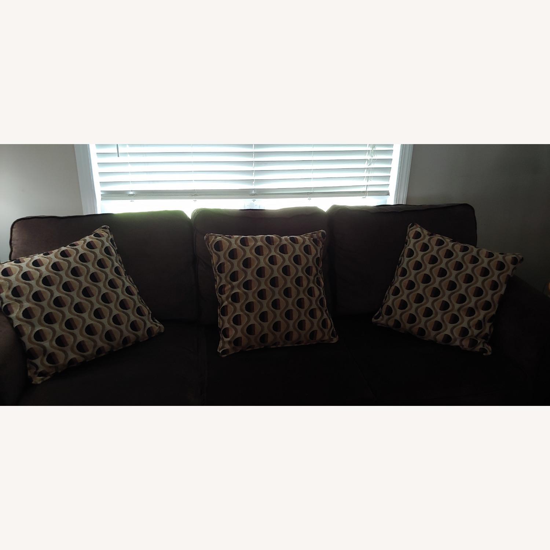 Bob's Discount Furniture Lindy Bobs DK Brn Sofa - image-3